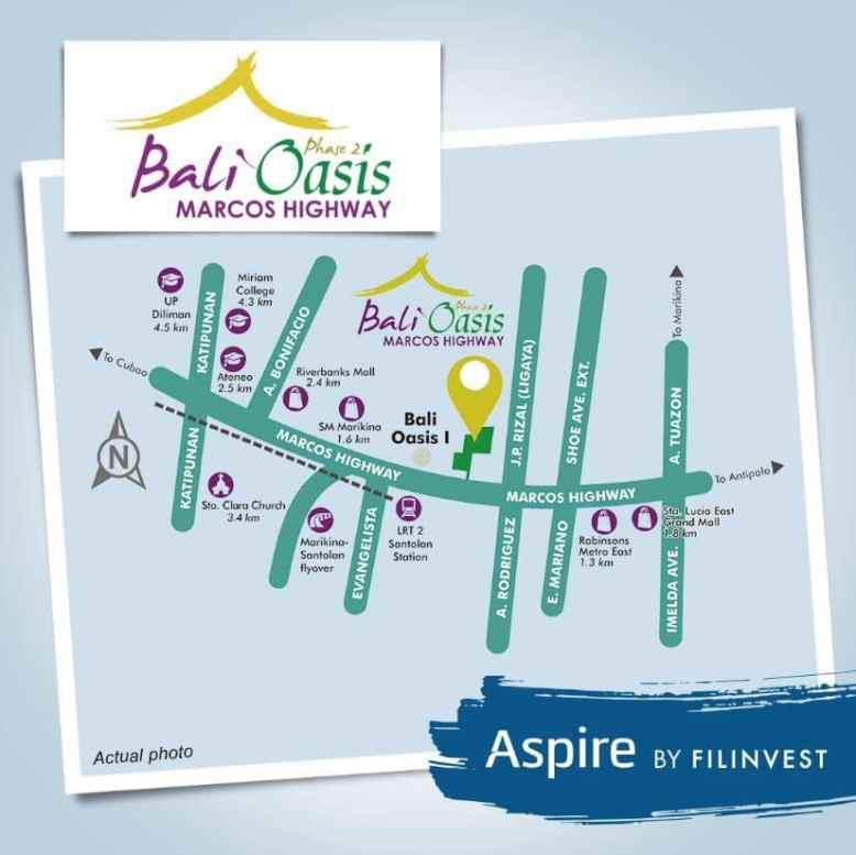 Bali Oasis Location and Vicinity