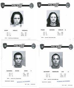 Fichas implicados en asesinato de expolicía, Ángel David Jiménez Rosa. (Foto/Suministrada)