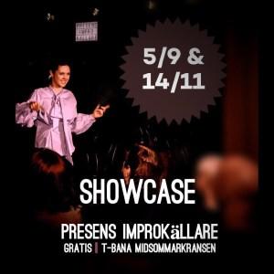 Showcase Gratis Presens Improvisationsteater Arbetsplats 5 september 14 november