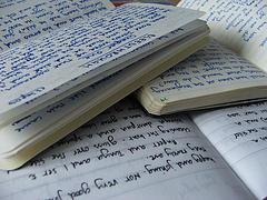 Libretas con anotaciones