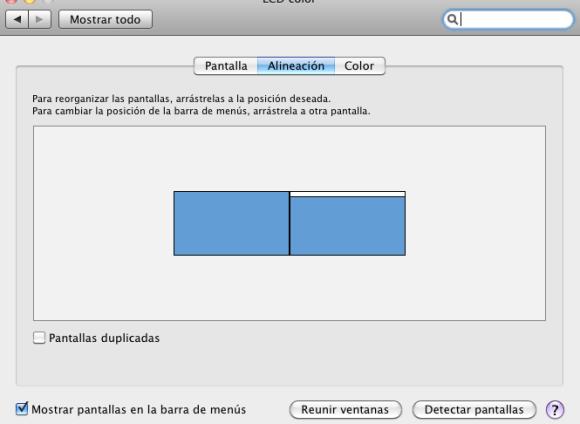 Configuración de pantalla en Mac