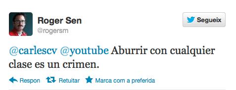 Captura de un tuit