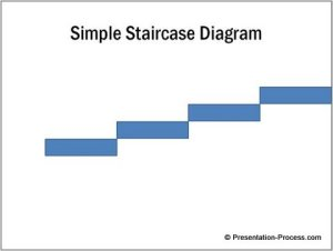 Simple Staircase Diagram in PowerPoint