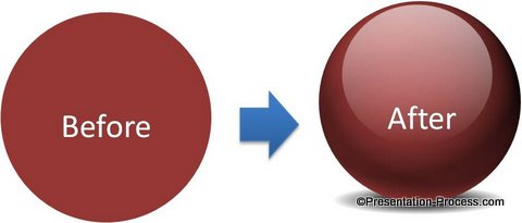 Create A Glossy Ball from a PowerPoint Sphere