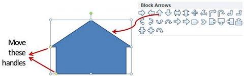 Block Arrow option