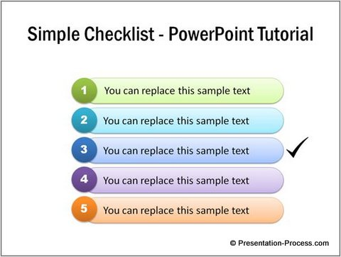 Completed checklist PowerPoint