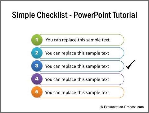 Checklist Template Variation