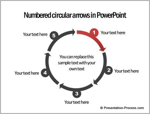 3 ways to create powerpoint circle diagrams circular arrows using ppt smartart ccuart Image collections