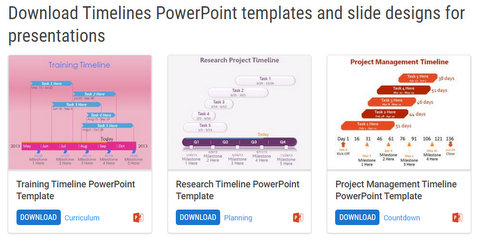 Free PowerPoint Timeline templates from FPPT