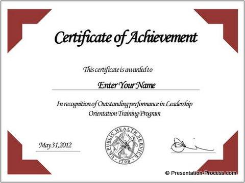 Framed certificate idea
