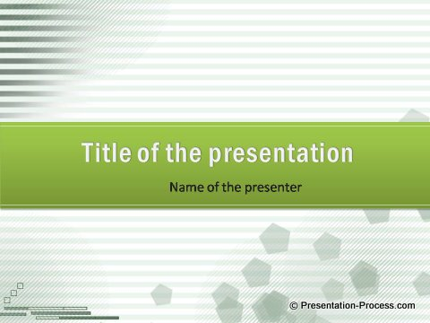 Free green Lines PowerPoint title set