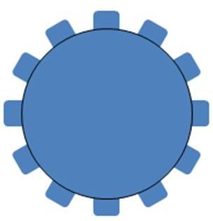 Circle to Create Gear Tutorial