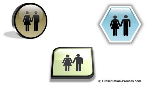 Icon vectors powerPoint Examples 3d