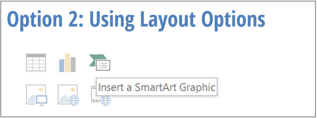 Insert SmartArt with Layout
