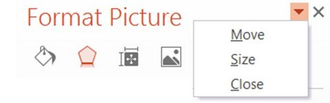 Move Format Picture Pane