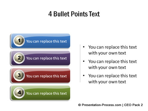 Numbered list from PowerPoint Graphics CEO Pack 2
