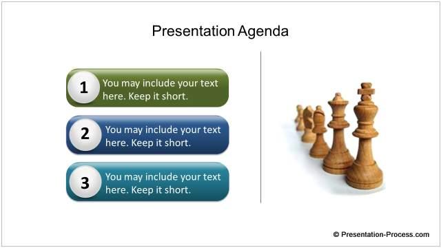 PowerPoint agenda design elements