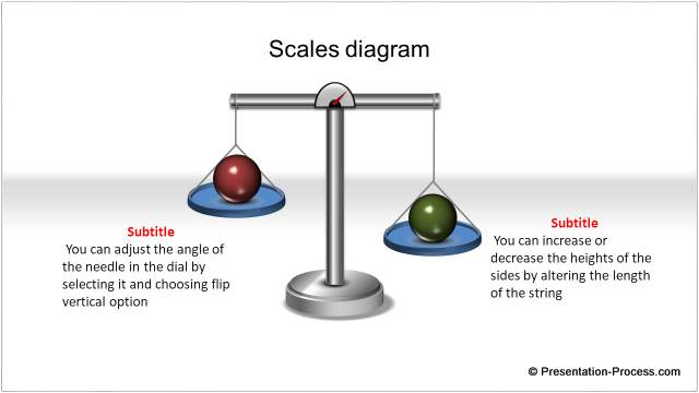 PowerPoint Scales Diagram