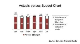 PowerPoint Data Chart Budget