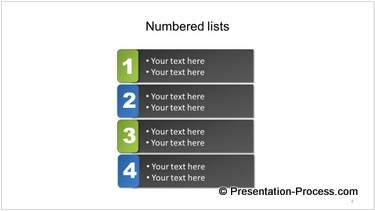 Stylish Numbered List