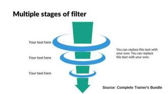 PowerPoint Flat Design Funnel