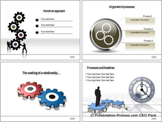 PowerPoint Gear Templates from CEO Pack
