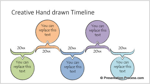 Creative PowerPoint Hand Drawn Timeline