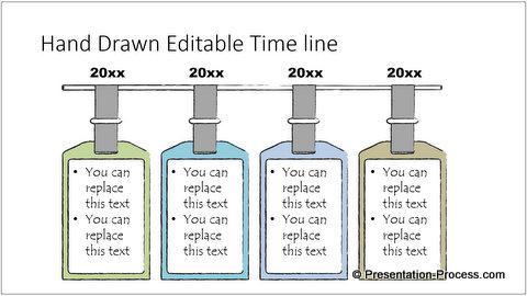 PowerPoint Hand Drawn timeline