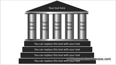 Powerpoint pillar templates from ceo pack 5 column 3d pillar toneelgroepblik Image collections