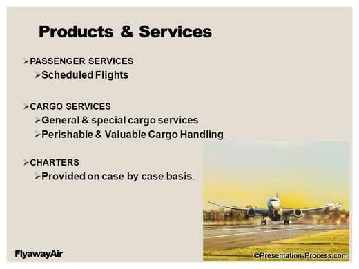 Transport Company Presentation Makeover – List of Services Slide