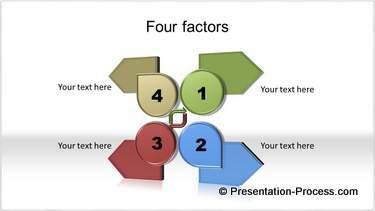 Four Arrows SmartArt
