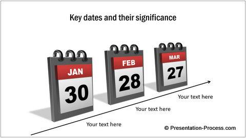 PowerPoint Template  3D Calendar