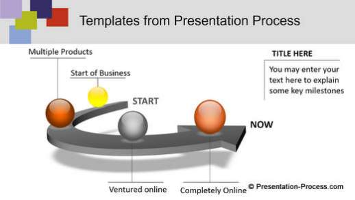 PowerPoint themed template with diagrams