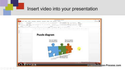PowerPoint themed template with video