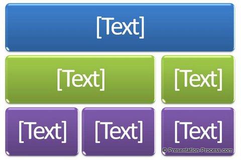 Hierarchy diagram in Smart Art