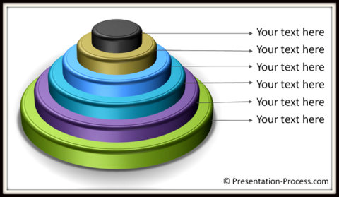 Smartart Circular Pyramid Diagram in 3D