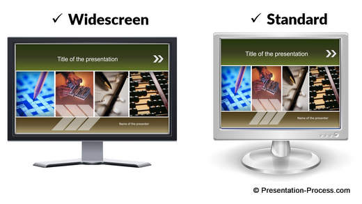 Widescreen and standard Title Templates