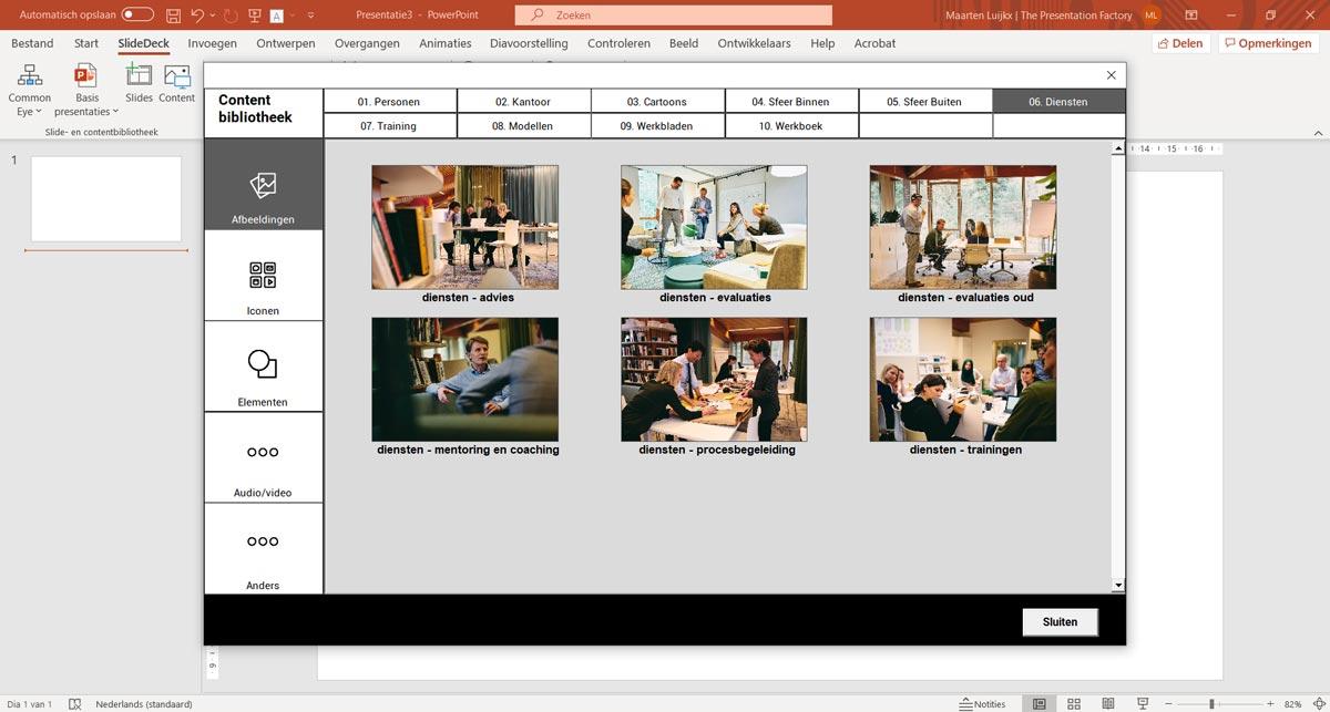 Presentatie slidedeck laten maken