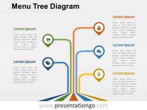 Menu Tree PowerPoint Diagram  PresentationGO