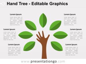 Hand Tree PowerPoint Diagram  PresentationGO
