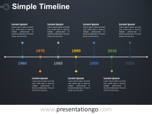 Simple Timeline PowerPoint Diagram  PresentationGO