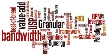 Jargon wordcloud by Gavin Llewellyn