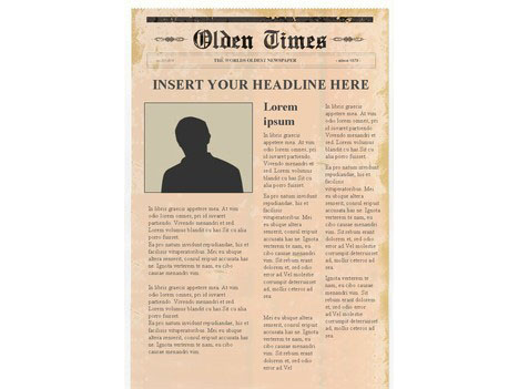 Editable Newspaper Template     Portrait Editable Newspaper Template     Portrait inside page