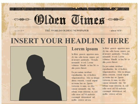 old newspaper template powerpoint   Beni algebra inc co old newspaper template powerpoint