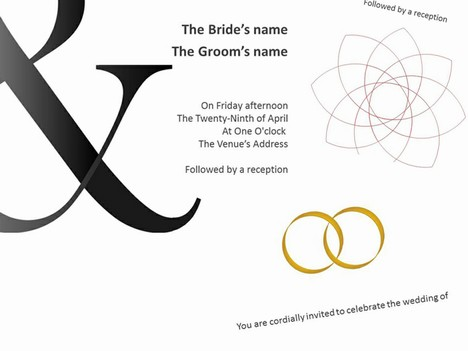 Gallery Of Template Printable Wedding Invitation Powerpoint Templates Love Ppt Backgrounds