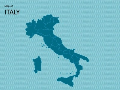 Map of Italy Template
