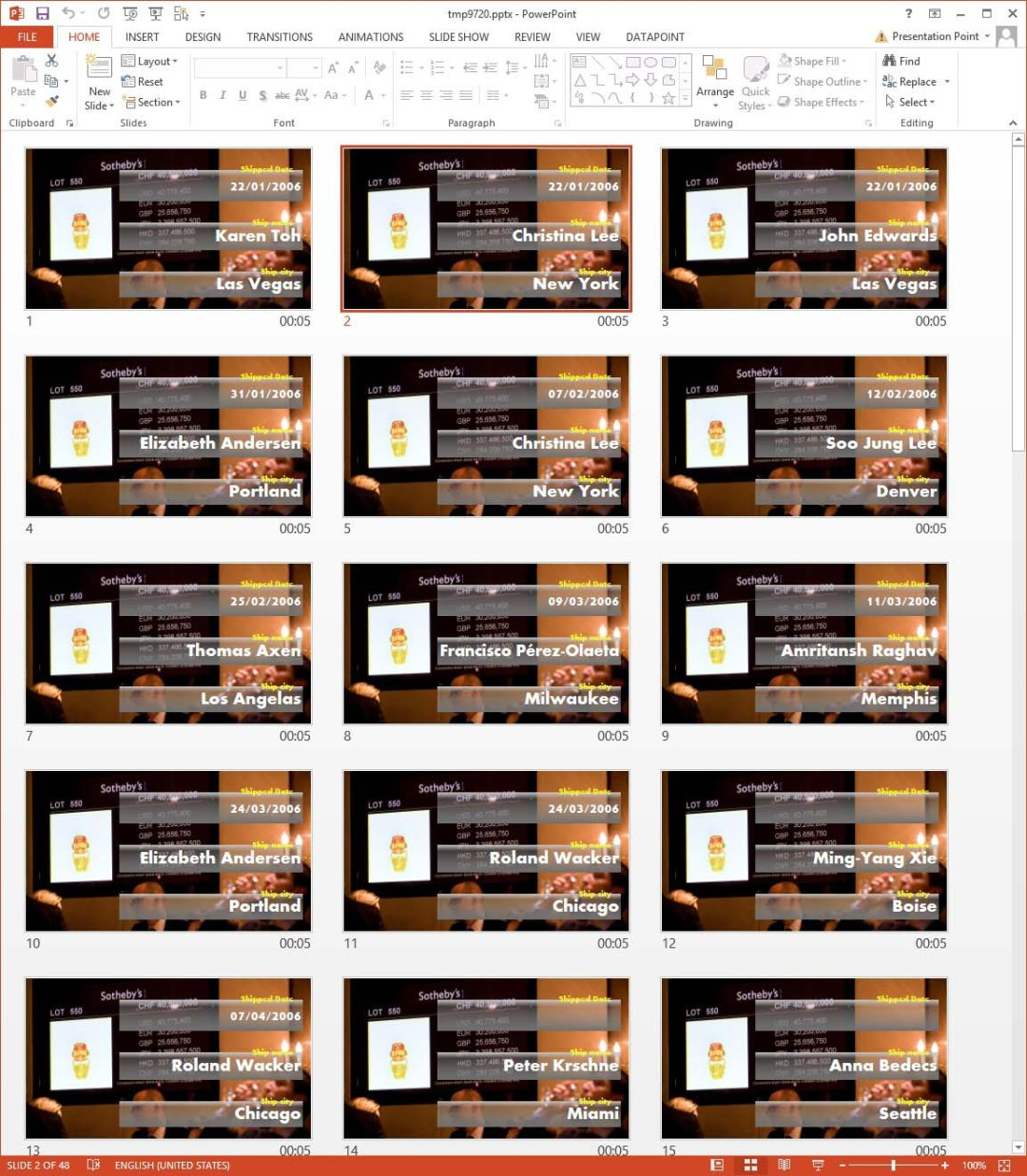 powerpoint presentation with automatic generated slides by our presentation maker software