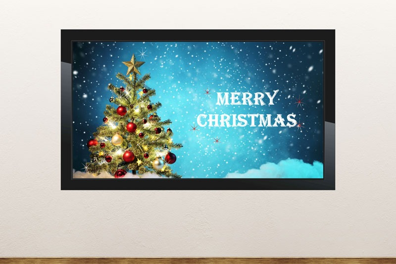 Free digital signage powerpoint template for christmas slides