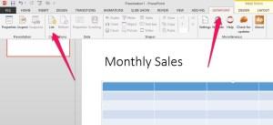 data driven powerpoint presentation menu
