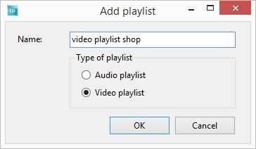 give a name to the playlist